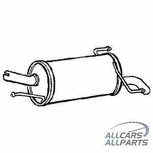 Vauxhall Corsa 1.3 1.7 CDTi Hatchback 01-06 New Rear Exhaust & Tail Pipe -GM436K