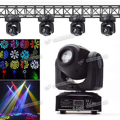 DMX512 30W Mini LED Stage Light Spot Moving Head Light RGBW 8 Gobos And 8 Colors
