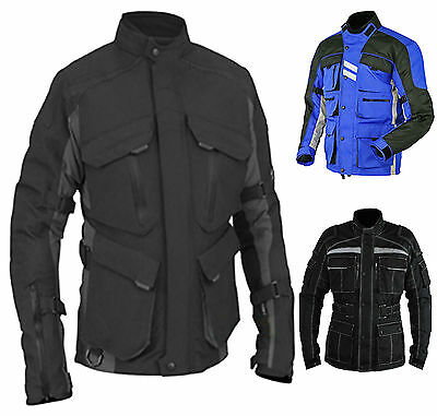 Classic Mens Motorbike Cordura Armour Biker Waterproof Motorcycle Jacket