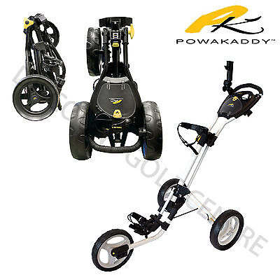 New 2017 - Powakaddy Twinline 4 Push Cart Three Wheel Golf Trolley