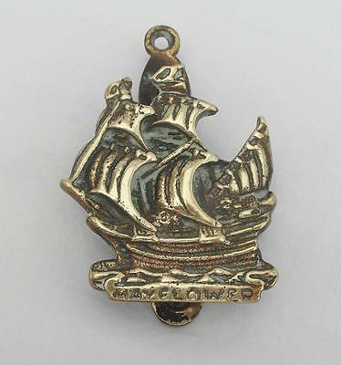 "Vintage BRASS The Pilgrims ""MAYFLOWER"" SHIP DOOR KNOCKER British Maritime"