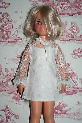 Fab Ivory Lace Dress For Ideal Crissy Sized Dolls
