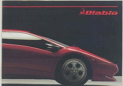 1991 1992 Lamborghini Diablo Brochure Italian English ww1748