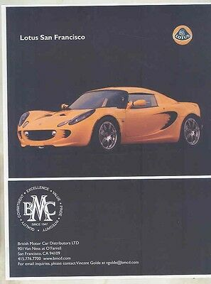2005 2006 ? Lotus Elise San Francisco Dealer Brochure ww1758