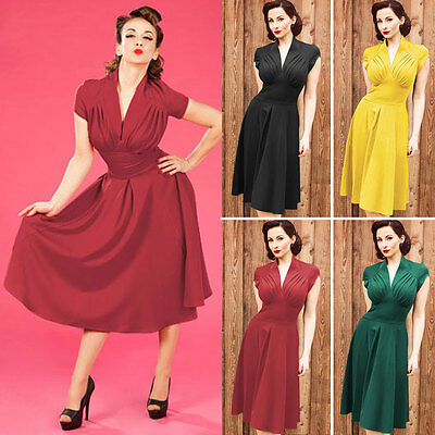 Womens Retro Sexy Cap Sleeve Evening Party Cocktail Bodycon Wiggle Pencil Dress