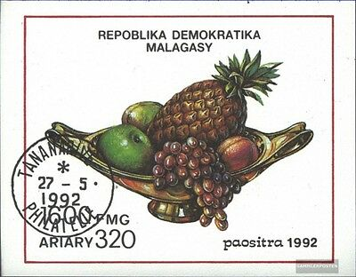 Madagascar block189 (complete issue) used 1992 Fruits