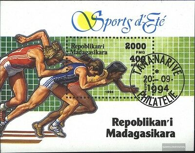 Madagascar block262 (complete issue) used 1994 Olympics Sports