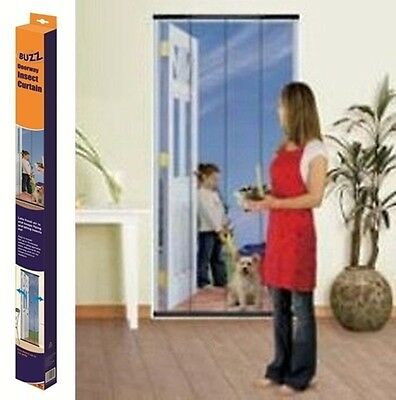 Buzz Doorway Insect Curtain - Blue. Keep out Flies, wasps, mosquitos, moths etc