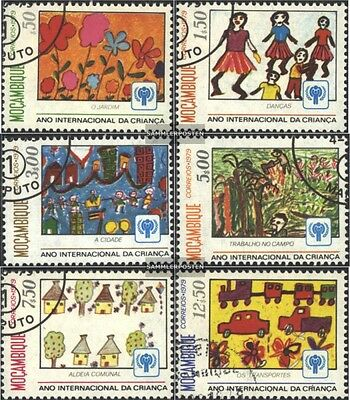 Mozambique 694-699 (complete issue) used 1979 Kindergemälde