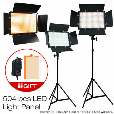 2x 500 LED Professional Photography Studio Video Light Panel Camera Photo Lighti