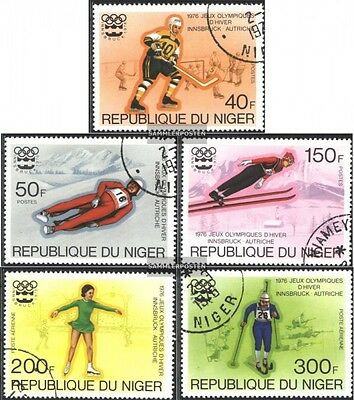 Niger 506-510 (complete issue) used 1976 Olympics Winter Games