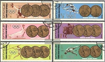 North Yemen 796-801 (complete issue) used 1968 Gold Medals olym