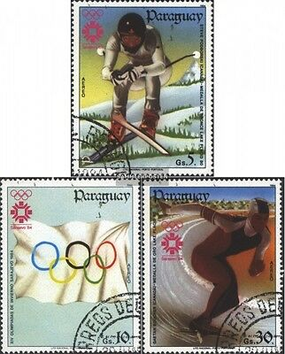 Paraguay 3733-3735 (complete issue) used 1984 olympic. Winter G