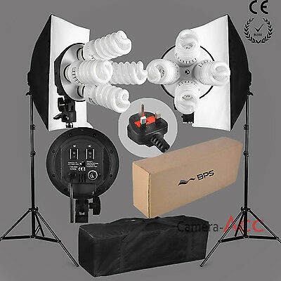 Pro Studio Photo 1520W Continuous Lighting Softbox Soft box Kit 4 Heads Earthed
