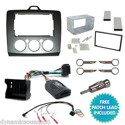 FORD Focus 2006  Double Din Stereo Fascia Facia Steering Control Fitting Kit