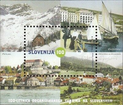 slovenia block22 fine used / cancelled 2005 100 years Tourism