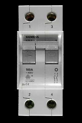Siemens 100 Amp Double Pole Main Switch Disconnector 5Te7