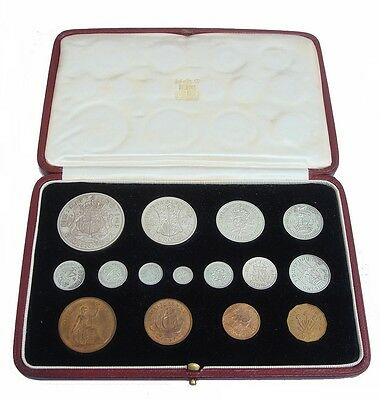 1937 George Vi Specimen Proof Coin Set 15 Coins In Case