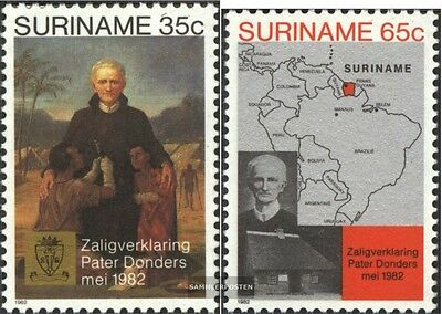 Suriname 985-986 (complete issue) unmounted mint / never hinged 1982 Pater P. Do