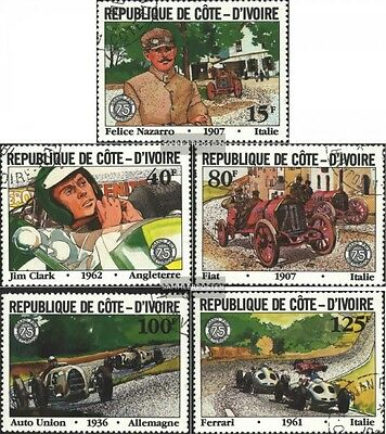 The Ivory Coast 706-710 (complete.issue) used 1981 large Price