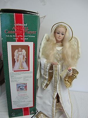 Vintage Animated Angel Holiday Creations Cassette Player Story Of 1St Christmas