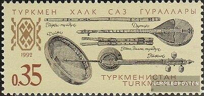 turkmenistan 10 unmounted mint / never hinged 1992 Musical Instruments
