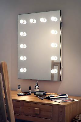 Diamond X Wallmount Hollywood Makeup Mirror with Daylight Dimmable LED k90CW