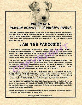 Rules In A Parson Russell Terrier's House