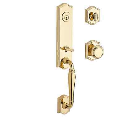 Baldwin New Hampshire Double Cylinder Handleset with Traditional Interior Knob