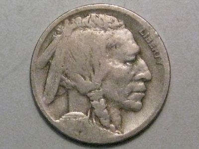 1917-d Semi-Key Date Buffalo Indian head Nickel.