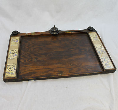 Antique Hotel Oak Revolving Book Register Desk with Advertising