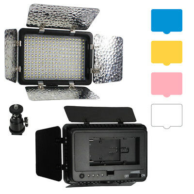 216 LED Video Light Lamp Barndoor for Canon Nikon Camera DV Camcorder