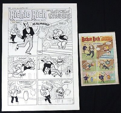 ESL070. RICHIE RICH MILLIONS #19 Dom Sileo & Helon Canson Complete 5 Page Story