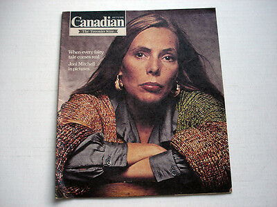 JONI MITCHELL on cover THE CANADIAN magazine July 3, 1976  rare