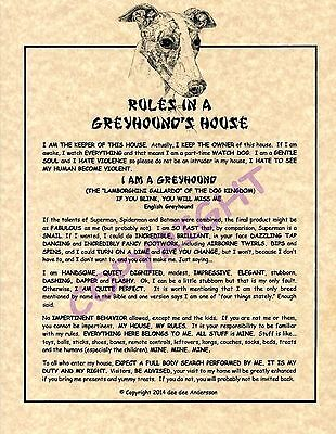 Rules In A Greyhound's House
