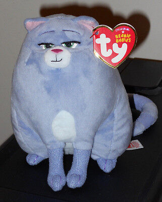 Ty Beanie Baby - CHLOE (The Secret Life of Pets Movie) Cat ~NEW for 2016 IN HAND