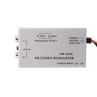 Radio Stereo Wired FM Modulator RCA AUX 3.5mm Input Audio Adapter FM304K MA809