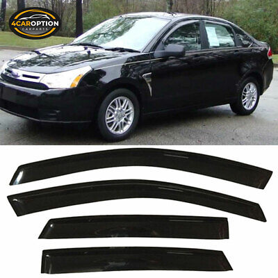 For 08-11 Ford Focus Sedan Acrylic Window Visors 4Pc Set