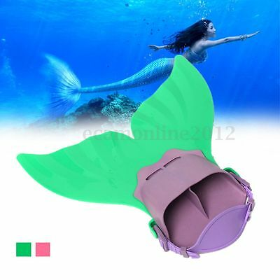 Mermaid Tail MonoFin Flippers Swimming Swim Toy Tail Prop For Kids Girls Gift