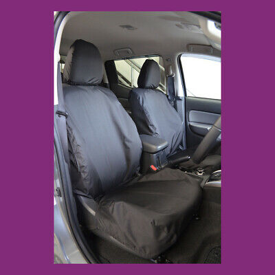 Fiat Fullback 2016+ Tailored & Waterproof Front Pair Black Seat Covers UK MADE