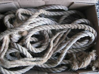 "3 pcs Used Manila Barn Farm Rope 1""  76  ft total Manila Rope"