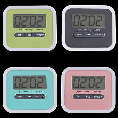 Large LCD Digital Kitchen Cooking Timer Count-Down Up Clock Loud Alarm DS