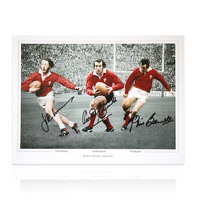 Welsh Rugby Legends - Signed by JPR Williams, Gareth Edwards & Phil Bennet