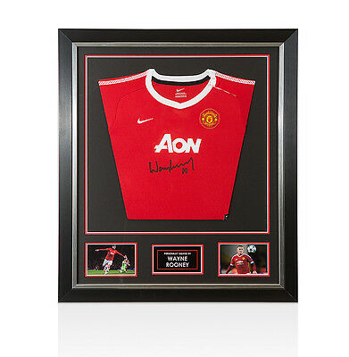 Framed Wayne Rooney Signed Manchester United Kids Shirt - Special Small Edition