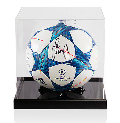 Jamie Carragher Signed UEFA Champions League Football - In Acrylic Display Case