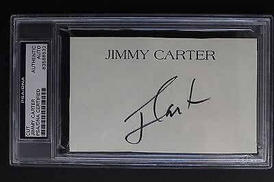 President Jimmy Carter 39th US President Autographed Signed Cut Sheet PSA/DNA