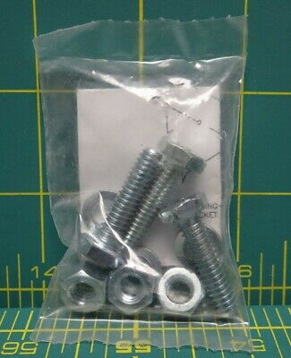 Lot of 50 Fastener Kits Nuts, Bolts, Washers Include 3 of each 1/4-20