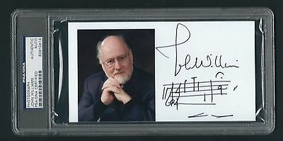 John Williams signed photo AMQS PSA Authenticated Composer Star Wars