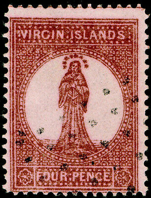 Sg15, 4d lake-red, FINE used. Cat £70.