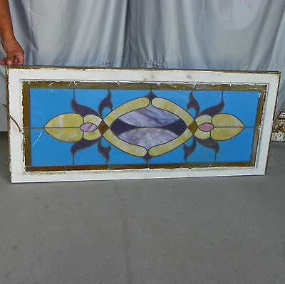 Antique Leaded Stained Stain Glass Window